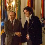 Kevin Spacey stars as Richard Nixon (left) and Michael Shannon stars as Elvis Presley (right) in Liza Johnson's ELVIS & NIXON, an Amazon Studios / Bleecker Street release.