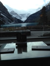 Table with a view, Lake Louise Hotel