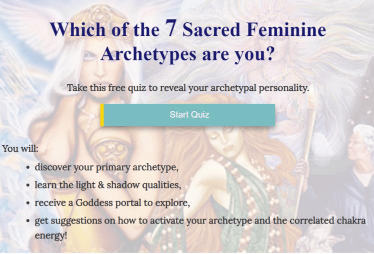 7 feminine archetypes quiz