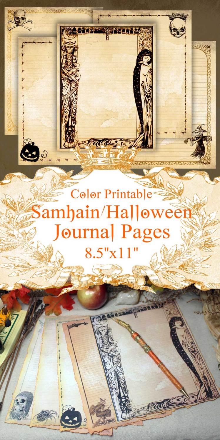 printable samhain paper pack