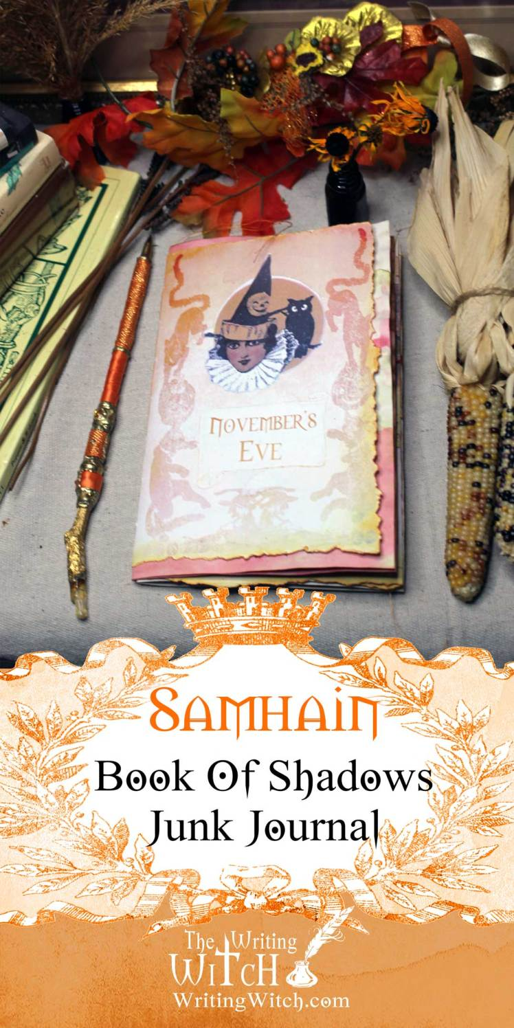 samhain junk journal book of shadows