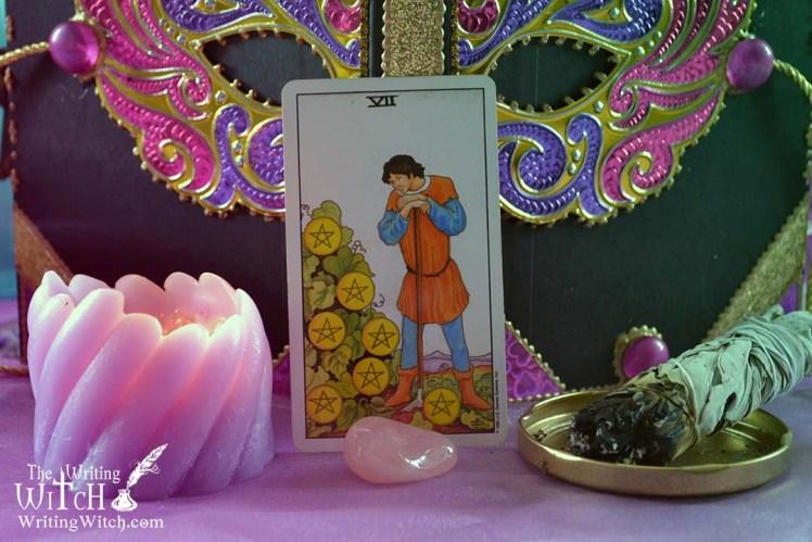 tarot card seven of pentacles