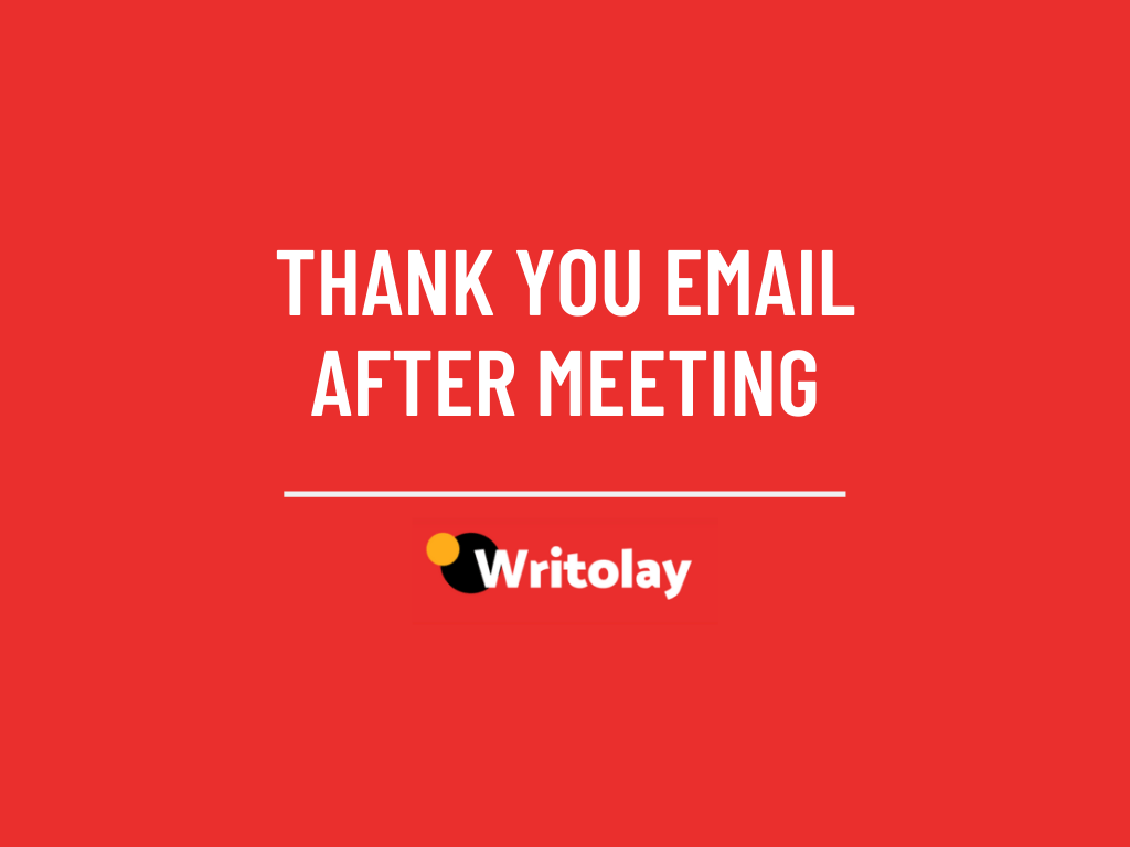 Hi , just wanted to say a huge thank you for meeting with me on . Thank You Email After Meeting 9 Sample Templates