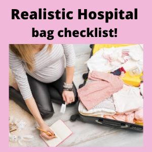 realistic hospital bag checklist the things you'll need