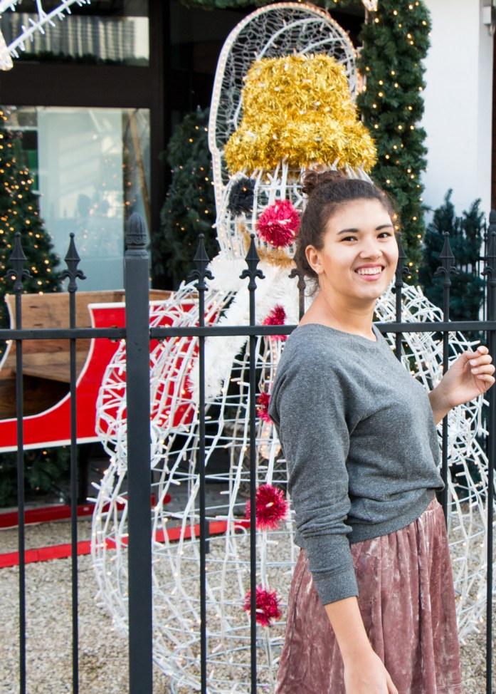 Outfitshooting an weihnachtlicher Location