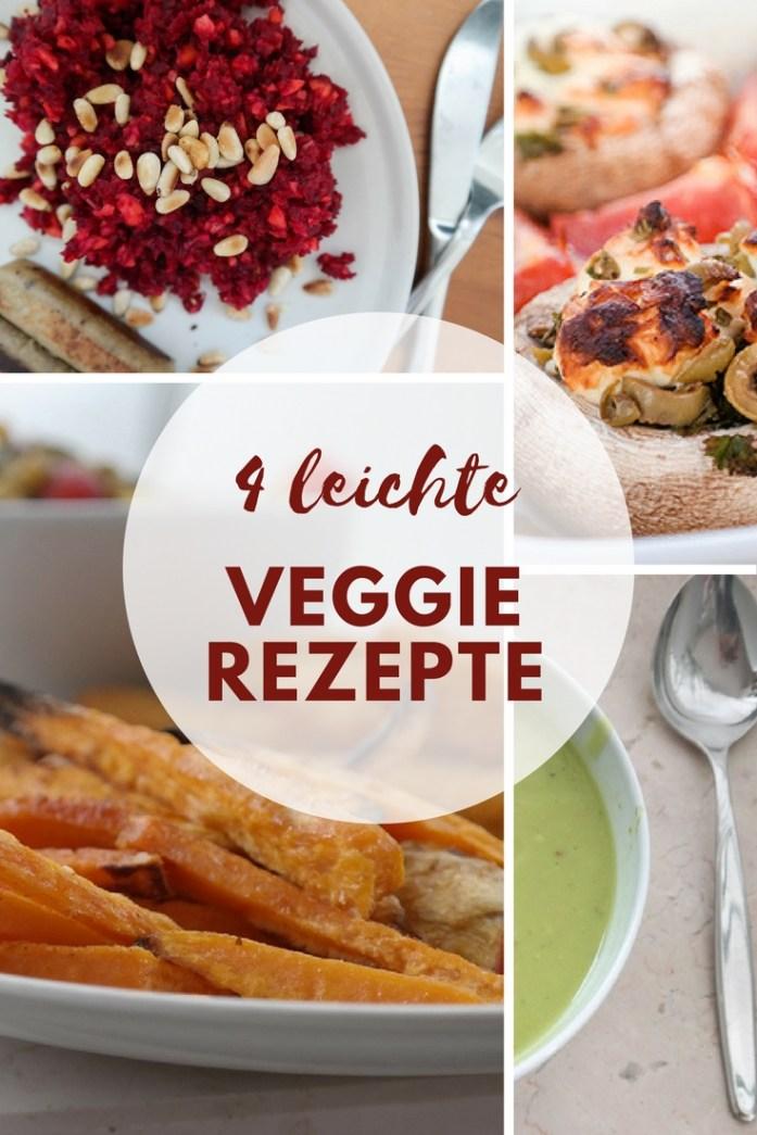 4 leichte vegetarische Rezepte