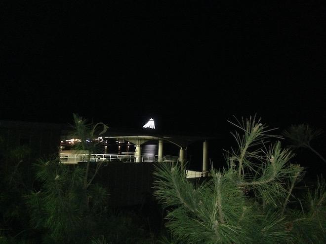 夜の江ノ島シーキャンドル