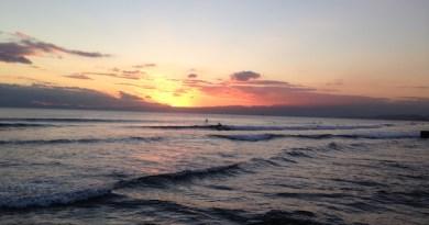 鵠沼海岸の夕焼け
