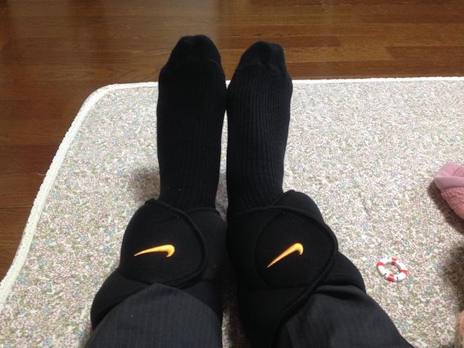 靴下からの装着状態