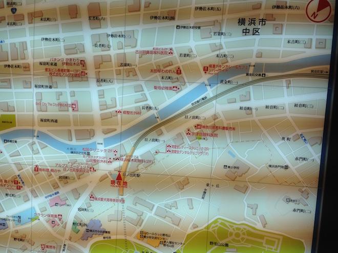 日の出町駅周辺地図