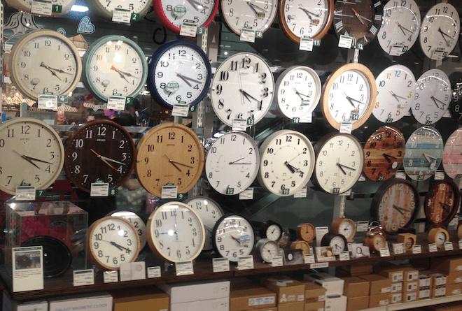 時間のイメージから時計