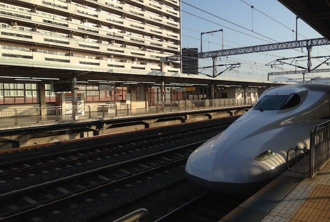 小田原駅でひかり乗車