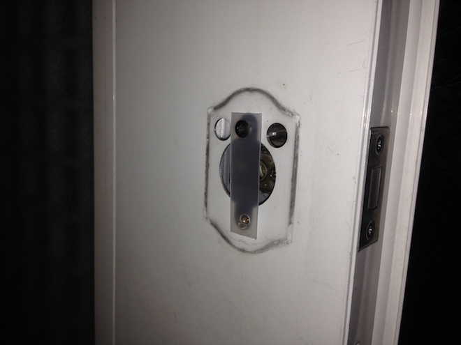 Entrance lock thumb turn7