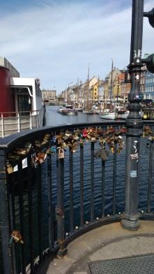 Love locks on the canal bridge
