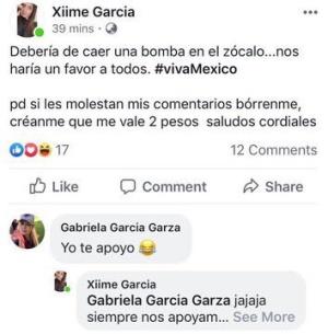 Gabriela García Garza, apoyó el comentario de su compañera y ella también fue retirada de su cargo