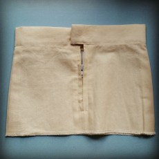 Calico Sample Waistband and Zip