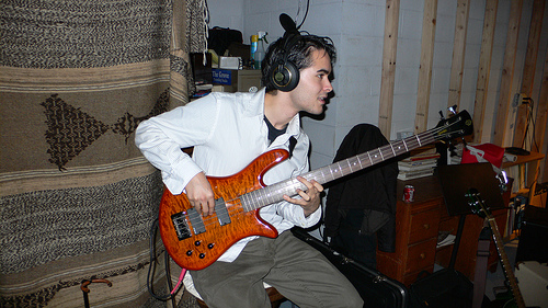 Andrew during the EP sessions.