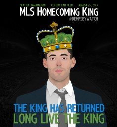 When Clint first re-joined MLS with Seattle, they ran a competition to win tickets to his first game against Portland. I finished in the top 5 with this design.