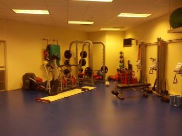 The training facilities on site at Toyota Stadium were impressive.