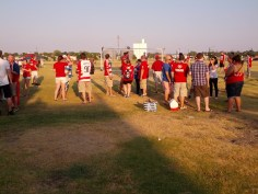 Tailgating takes place all over the lots, if your willing to risk the heat.
