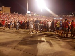 The Budweiser Beer Garden is a great spot for any fan over the age of 21 to get in on the atmosphere at Toyota Stadium.