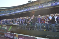 The home supporters group, the Louisville Coopers, were out in large numbers.