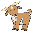 Clipart image of a goat.