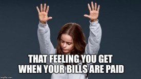 Bills are paid