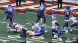 FB John Martinez hurdled TWO Tampa Bay Storm players for the first touchdown of his career.