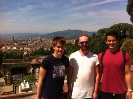 At a Basilica with two Adventurers: Ed and Will, Firenze.