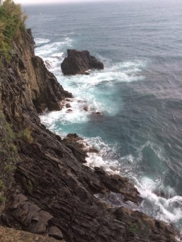 The Sea and Rocks, Riomaggiore, Cinque Terre.