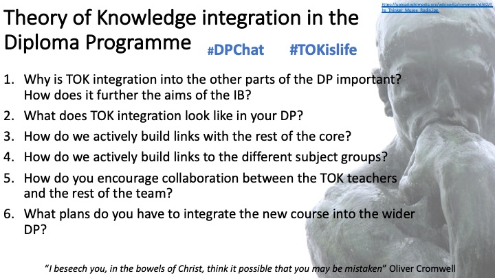 Integrating TOK into the IBDP
