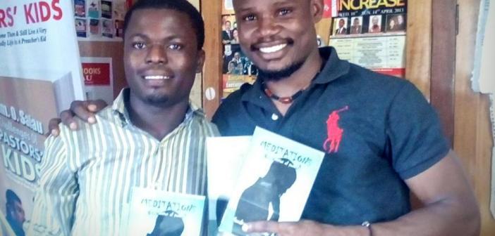 WRR CEO/Publisher Kukogho Iruesiri Samson (KIS) with Goodness Olanrewaju Ayoola, author of MEDITATIONS (poems)