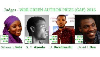 Judges WRR GREEN AUTHOR PRIZE (GAP) 2016