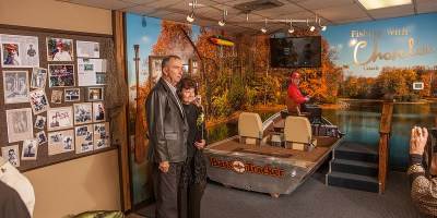 Charlie and Wanda Campbell view the exhibit