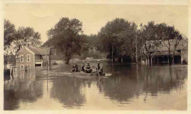 Old Forsyth Flooded