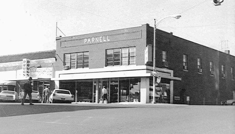 The Parnell building at Main and Commercial in Branson