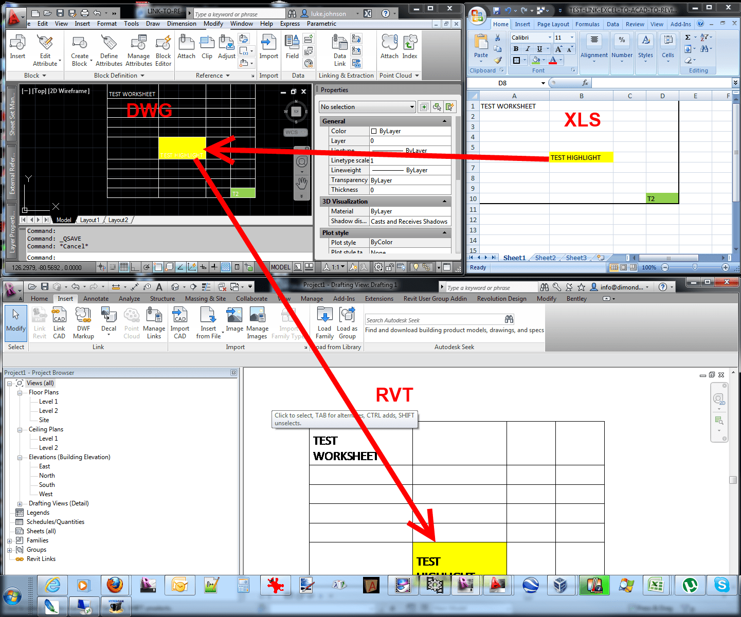 Link Excel Spreadsheet Data Into Revit What Revit Wants