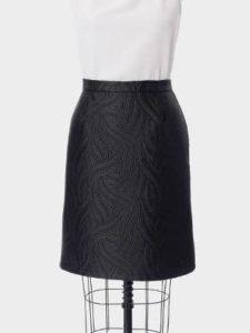 Embroided Black Skirt Evyie