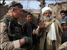 Un soldado holandés en Afganistán.