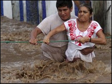 Oaxaca eyaletinde sel