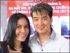 Nhà báo Hương Trà và ca sỹ Đàm Vĩnh Hưng