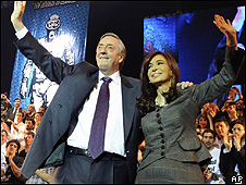Nestor and Cristina Kirchner