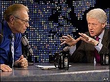 Larry King y Bill Clinton