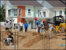 Land being built on by developers, photographed while recording the programme