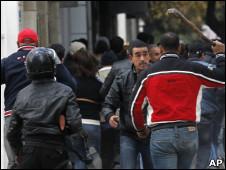 Protesto em Túnis (AP)