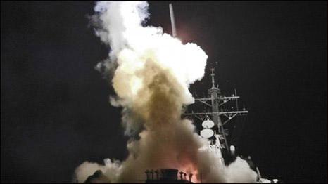 Tàu USS Barry của Mỹ bắn hỏa tiễn Tomahawk vào Libya