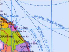 Bản đồ một khu vực biển Đông