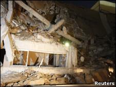 Prédio do complexo de Khadafi em Trípoli
