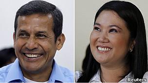 Humala (izqda.) y Fujimori.